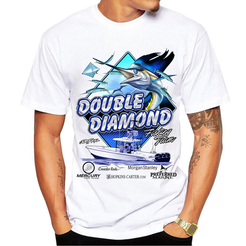 Funny Mens Fishinger T-Shirt 3D SEA Tuna Fish Printed T Shirt For Men Fisherman Joke Tshirt Birthday Gifts Present For Dad Him