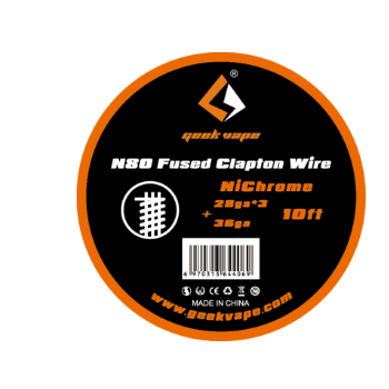original GeekVape <font><b>N80</b></font> Fused clapton <font><b>wire</b></font>(28ga*3+36ga) for electronic cigarette tank vape accesorry image