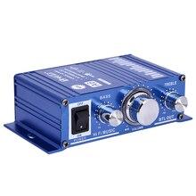 Amplificadores de potencia Digital Teli A6 Amplificador de Audio Estéreo Amplificador Autos Motos Barco car styling Para MP3/iPod