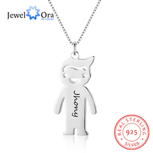 Name Necklace Pendants Cartoon Engrave Humanoid-Design Jewelora-Ne102385 Personalized