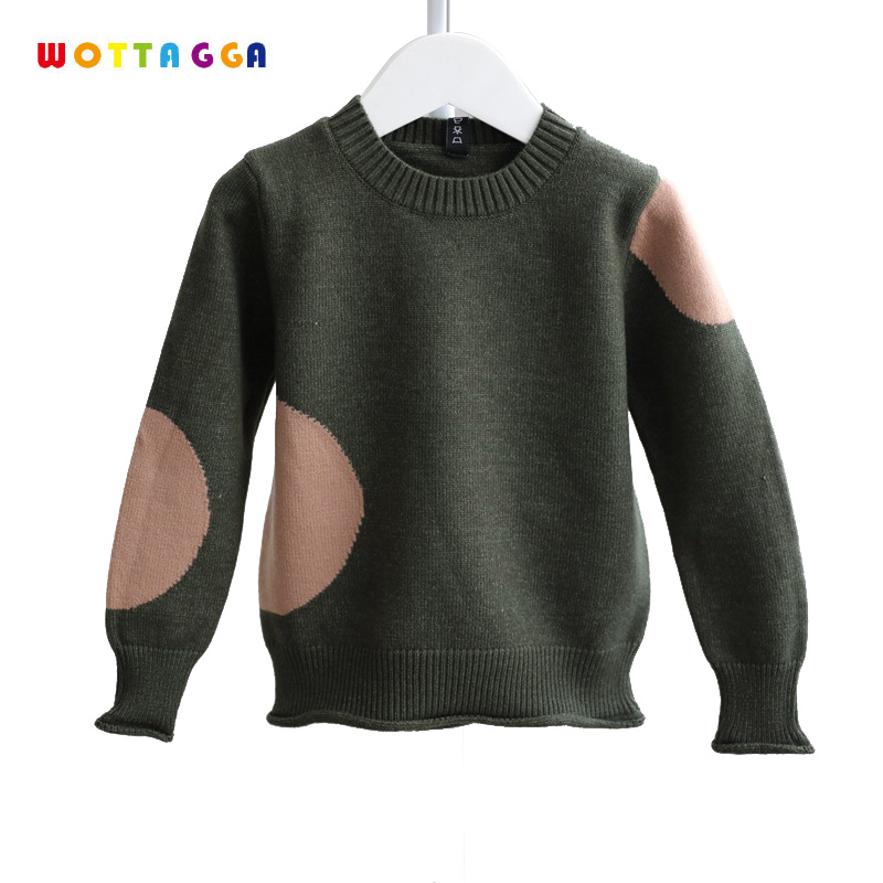 WOTTAGGA Boys Children Clothing Sweaters Ruffles Kids Knitted Cardigan Patchwork Wool Outerwear Casual Autumn O-neck 3-7Y цена 2017