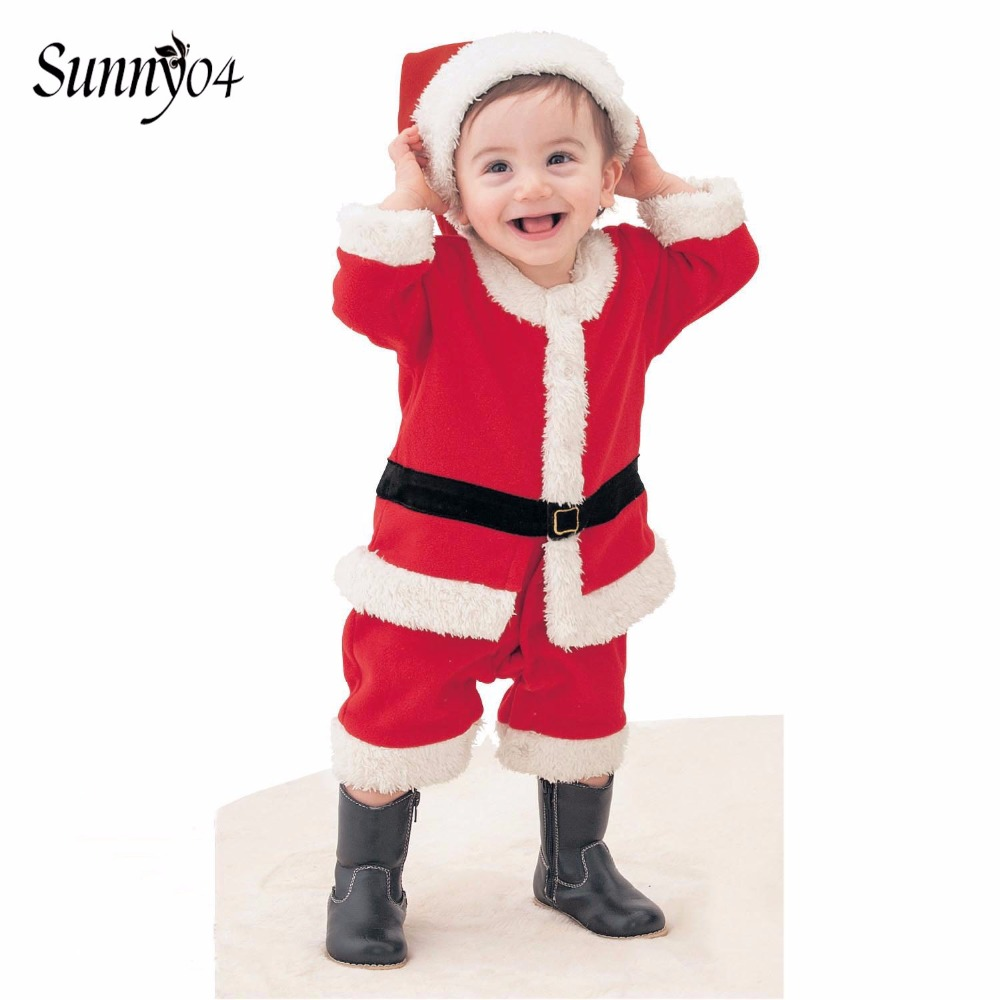 2018 Children Christmas Clothing Set 12M-3Y Baby Boys Girls Santa Claus Costumes Suit and Dress Infant Toddler Kids Warm Clothes inflatable cartoon customized advertising giant christmas inflatable santa claus for christmas outdoor decoration