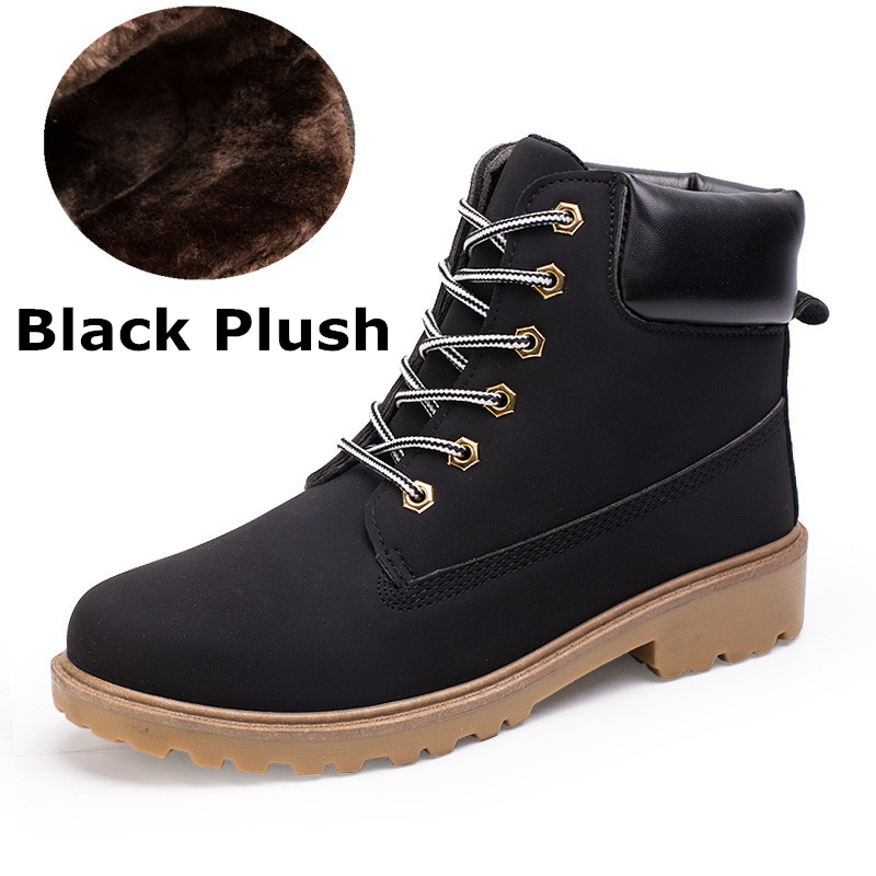 1213a1e9417 Detail Feedback Questions about New Autumn Winter Boots Men Suede  Leather2018 Unisex Fashion Snow boots Male Work Shoes Lover Martin Boot  Large Plus size39 ...