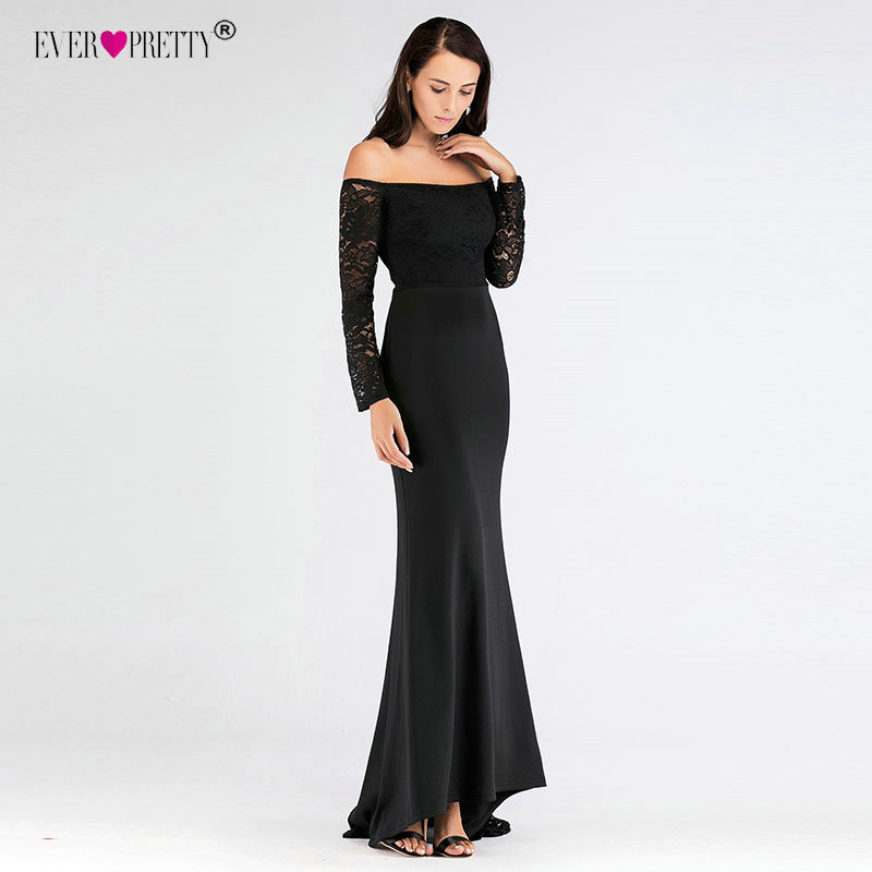 640a39934141d Black Long Sleeves Evening Dresses Ever Pretty Elegant Off The Shoulder  Long Formal Gowns Mermaid ...