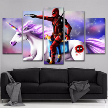 5 Pieces Movie Deadpool Character  Poster Modern Wall Art Decorative Framework Canvas Print Paintings Modular Picture