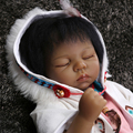 "17"" Reborn Dolls Model Toys American Indian Silicone Vinyl Reborn Baby Model For Children Gifts   Collections About 53cm"