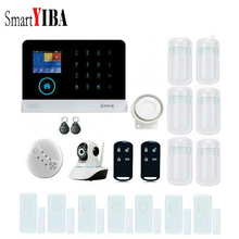 SmartYIBA RFID WIFI Android IOS APP Alarmas With Home Security Intruder Alarm Kits Network Camera Infared Motion PIR Door Alarm