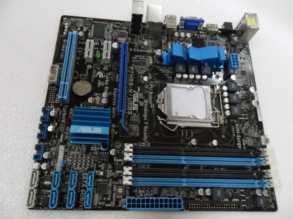 Free shipping original motherboard for P7H55-M/USB3 LGA 1156 DDR3 16GB USB2.0 USB3.0 for I3 I5 I7 H55 Desktop motherboard for lenovo b510 aio system motherboard h55 1156 11013011 11012732 original box bag wholesale