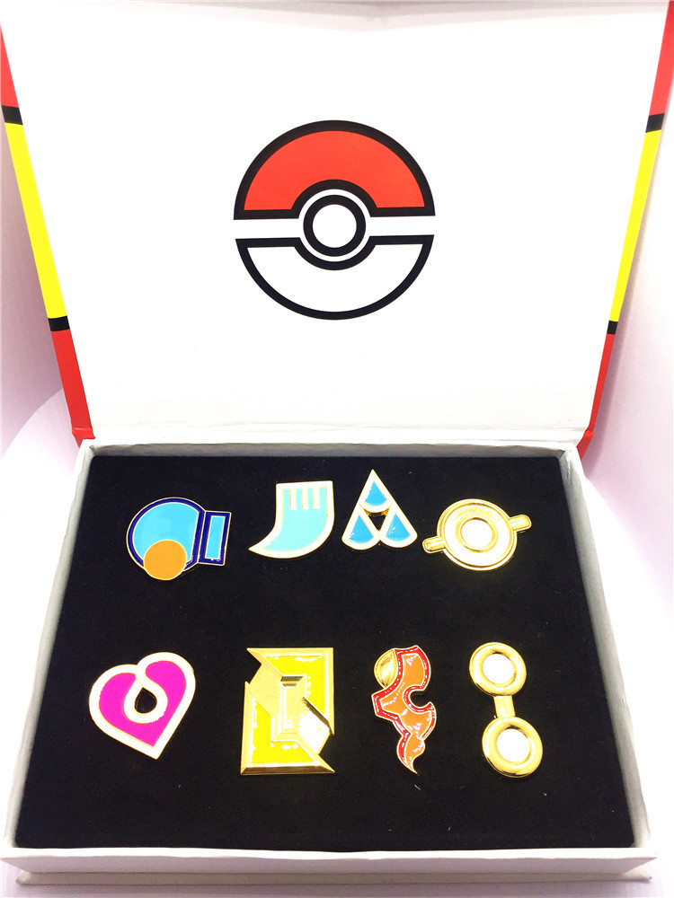 Elf Pokemon Go ! Badge Road Museum Anime Game Accessories Beautifully Boxed Dripping Oil Pokemon Brooch Box Sets For Gifts