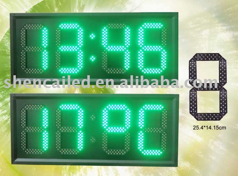 10 inches LED Clock, led numbers display