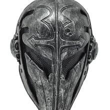 Пейнтбол страйкбол проволочная сетка Тамплиер ткань пластиковая маска(черный