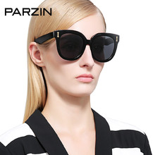 Parzin  Polarized Sunglasses Women Men Hand Made Oversized Vintage Female Sun Glasses Driving Glasses Shades With Case