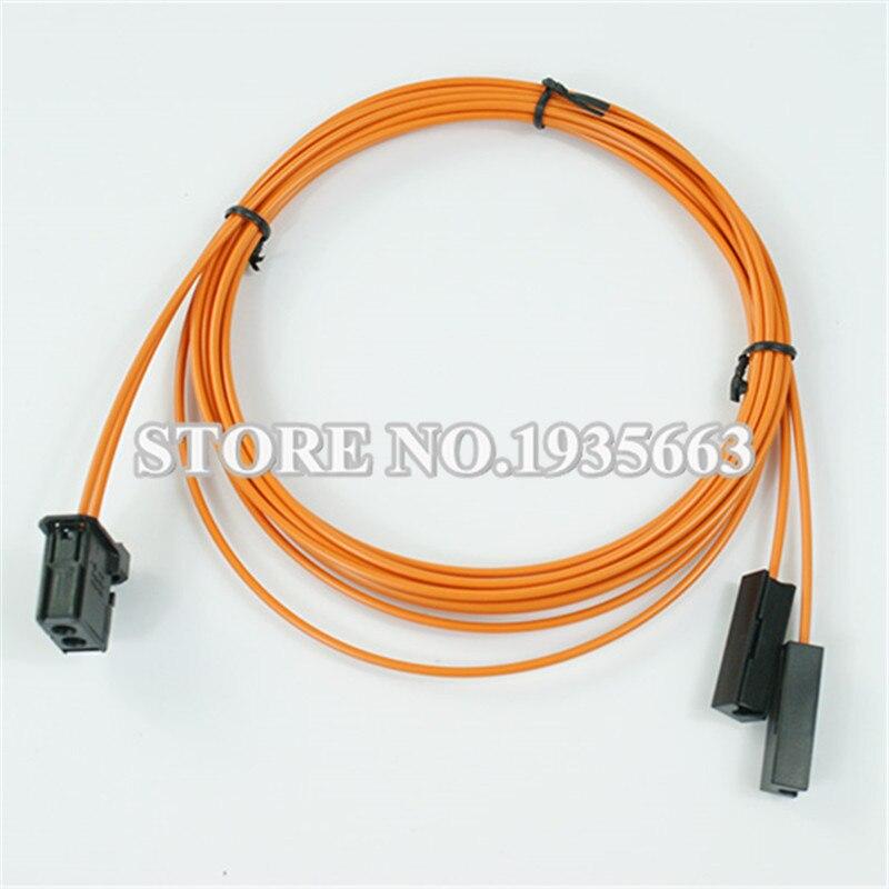 MOST Fiber Optic Cable Male & 2pcs break cable connector For Audi BMW Benz etc. 100cm