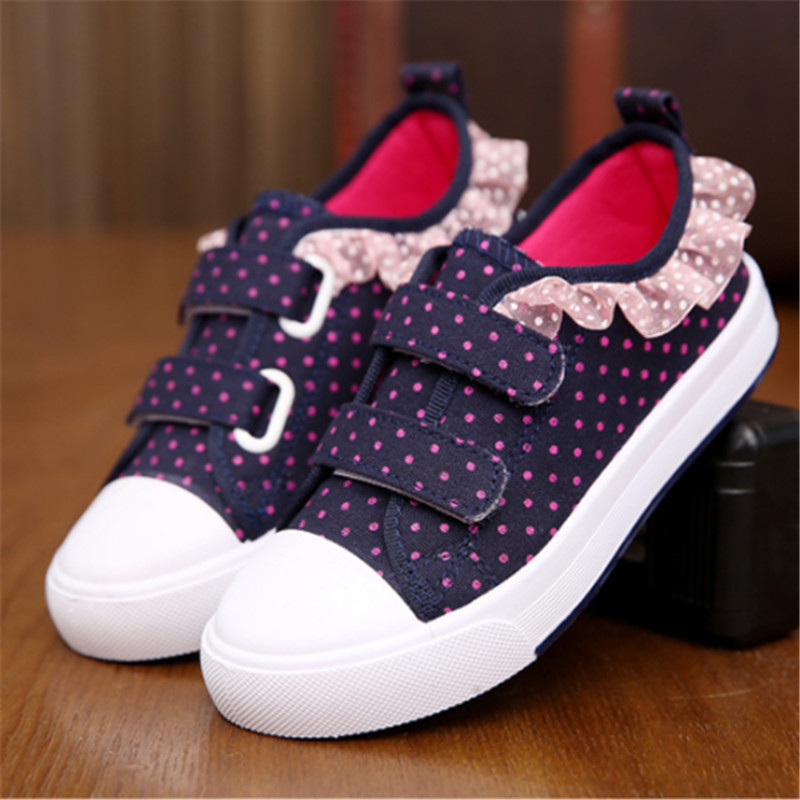 Kids Shoes Soft Chaussure Enfant Casual Sport Girls Shoes 2019 Autumn Spring Dot Kids Sneakers Breathable Children Shoes