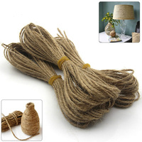 50 100M Natural Brown Jute Hemp Rope Twine String Cord Shank Craft Decroation Making DIY 1mm