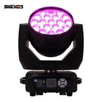 2 шт./лот светодио дный перемещение головы 19x15 Вт RGBW стирка/зум свет этапа Профессиональный DJ/крючок светодио дный этап машина DMX512 светодио д