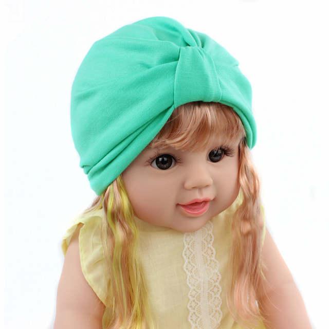 Newborn Hats Baby Knitting Knot Hat Winter Warm Caps Bohemia India turban  Hats Beanies Photography Props 083c41788