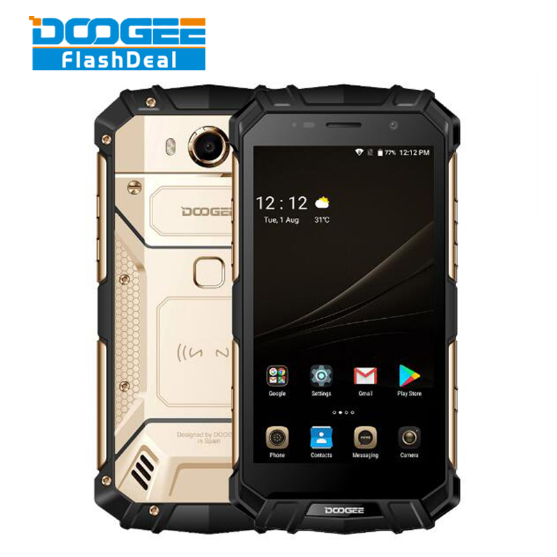 DOOGEE S60 IP68 Waterproof Dustproof Phone 6GB+64GB 5.2 Helio P25 Octa Core 4G Android7.0 5580mAh 21.0MP Global Version Rugged