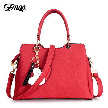 ZMQN Woman Bag Red Fashion Handbags Bags for Women 2018 Young Soild Shoulder Crossbody Bag Girls Heart Bolsa Feminina CYMKN A911