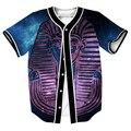 Faraón galaxy camiseta overshirt camisa camisas de los hombres de hip hop con un solo pecho streetwear sudadera casual trajes