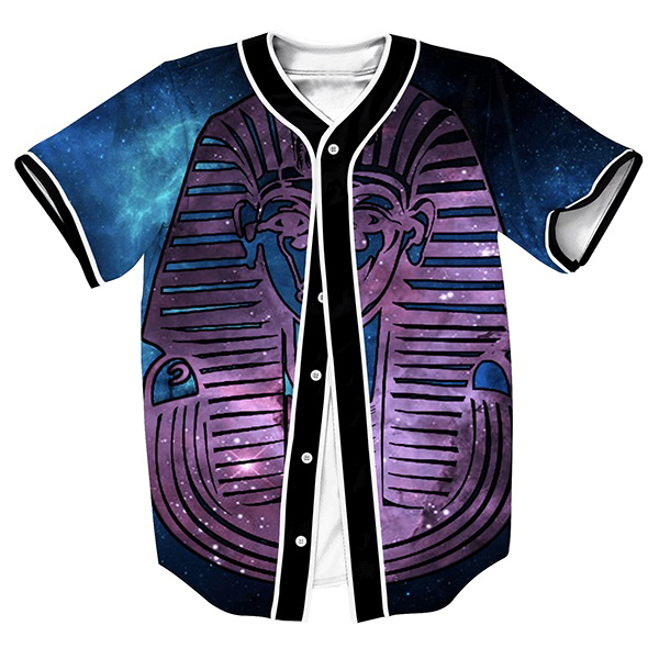 Pharaoh Galaxy Jersey overshirt shirt Men's shirts Hip Hop with Single Breasted Streetwear sweat shirt casual outfits