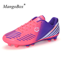 MangoBox Mens Cleats Soccer Wearable Football Shoes Boys Lightweight Top Soccer Cleats Non Slip Sneakers Soccer