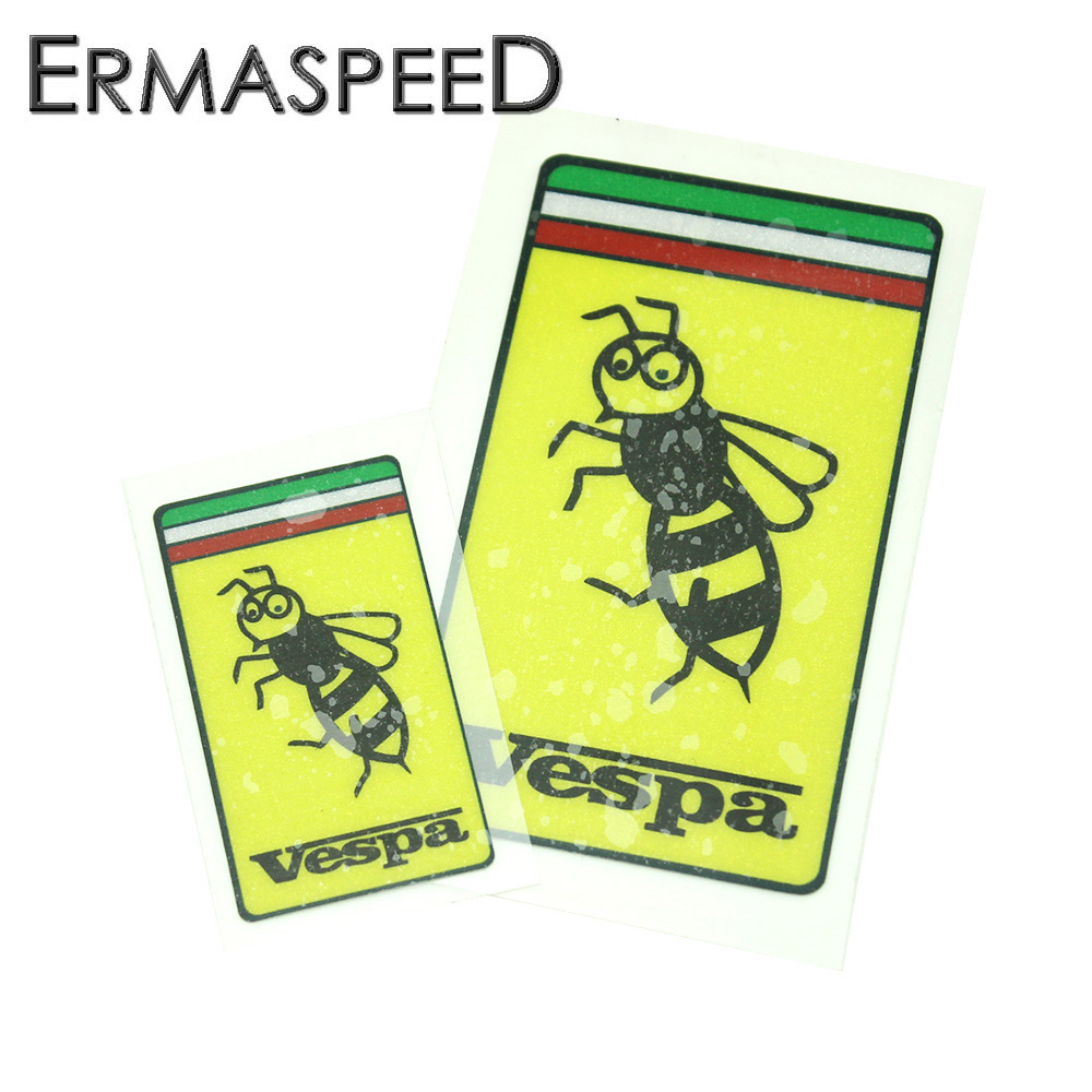 Motorcycle Vespa Helmet Sticker Bee Logo Decals Styling Waterproof Anti-scratch Motobike Scooter Decor PVC Stickers for Piaggio common use axial schottky fast recovery fast switching rectifier diodes 220 piece pack