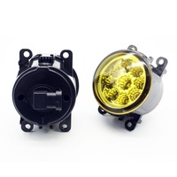 2pcs Car Styling Round Front Bumper LED Fog Lights DRL Daytime Running Driving Yellow For Lincoln