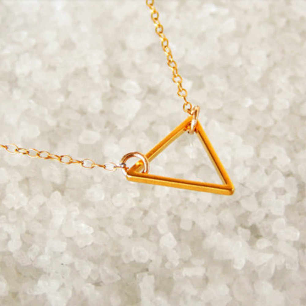 fashion fashion jewelry street shot metal hollow triangle charm women short paragraph necklace