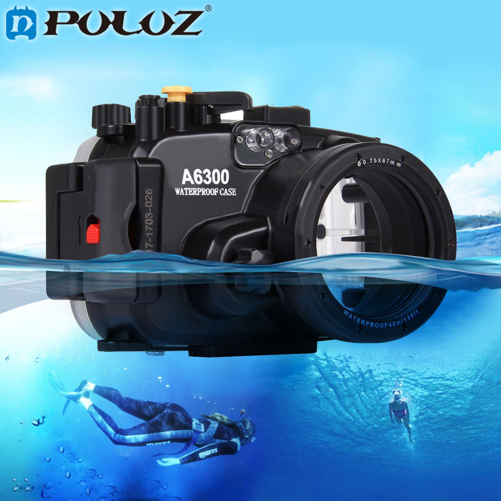PULUZ 40m 1560inch 130ft Depth Underwater Swimming Diving Case Waterproof Camera bag Housing case for Sony A6300