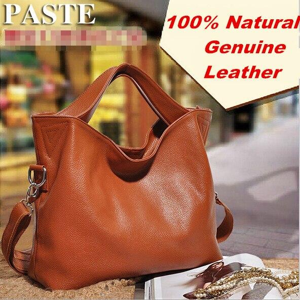 Luksusowe 100% gwarancja naturalne prawdziwej skóry kobiet torebki mody torby listonoszki wysokiej jakości marki torba damska torba w Torby z uchwytem od Bagaże i torby na  Grupa 1