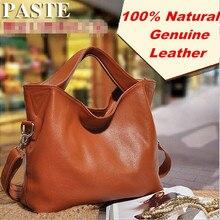 Luxury 100% Guarantee Natural Genuine leather women handbag Fashion shoulder messenger bags High quality Brand women Tote Bag