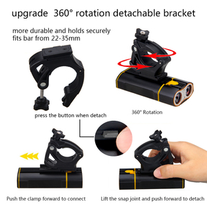 Image 2 - USB Rechargeable Handlebar Headlight  Front Bike Light 2X XM L T6 LED Lamp Built in Rechargeable Battery for Cycling