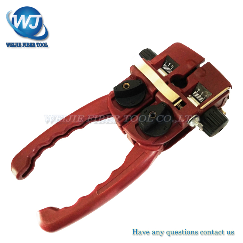 free shipping Ttg10 strippers FTTP Tools optical fiber stripping Across and Lengthwise Fiber Cable Stripper