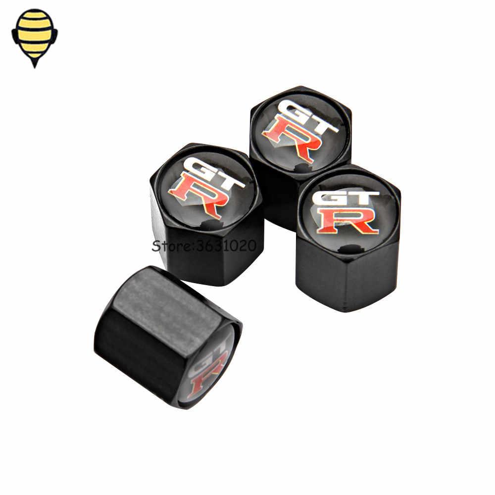 Accessoires Auto jantes de roue bouchons de tige de Valve de pneu pour logo GTR pour Nissan x-trail 350-Z Juke Qashqai TIIDA Almera Pathfinder