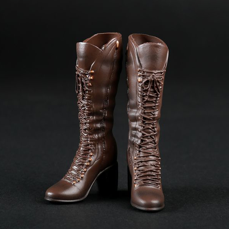 """1//6 Scale Cowboy Boots Model Hollow for 12/"""" Action Figure"""