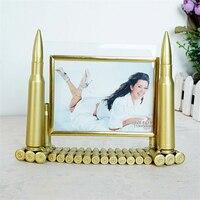 Creative Photo Frame Army Memorial Frame 5 Inch Metal Bullets Picture Frame Artwork Home Desktop Decoration Framework