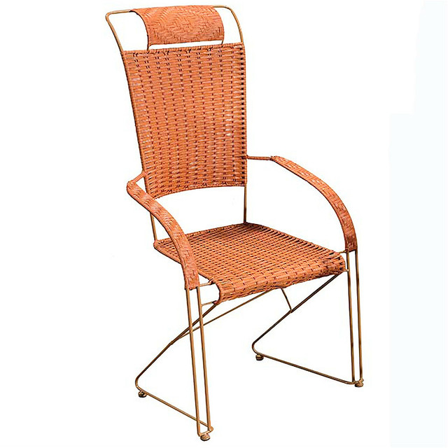 KY09 Outdoor Simple Rattan Chair Comfortable Iron Chair Leisure Chair  Stable Eco Friendly PE Hand