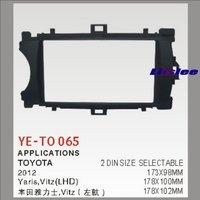 2 DIN Car Refitting Frame Panel For Toyota Yaris Vitz Radio Stereo CD DVD Player NAVI