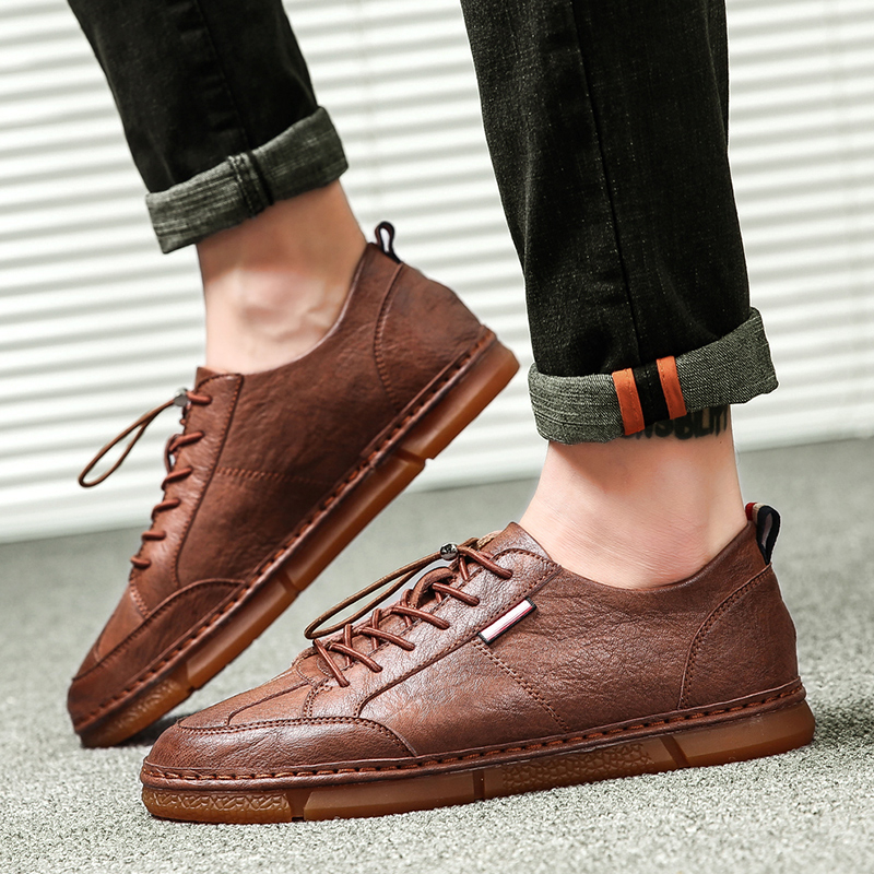 2018 chaussures pour hommes chaussures de loisirs respirantes avec petites chaussures en cuir britanniques Version coréenne pour hommes de la tendance des jeunes 5
