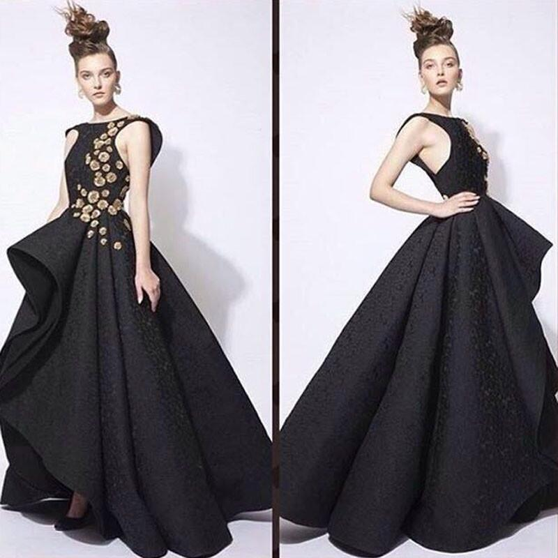 Couture Evening Gowns And Dresses: Haute Couture High Low Black Prom Dresses 2017 High Level