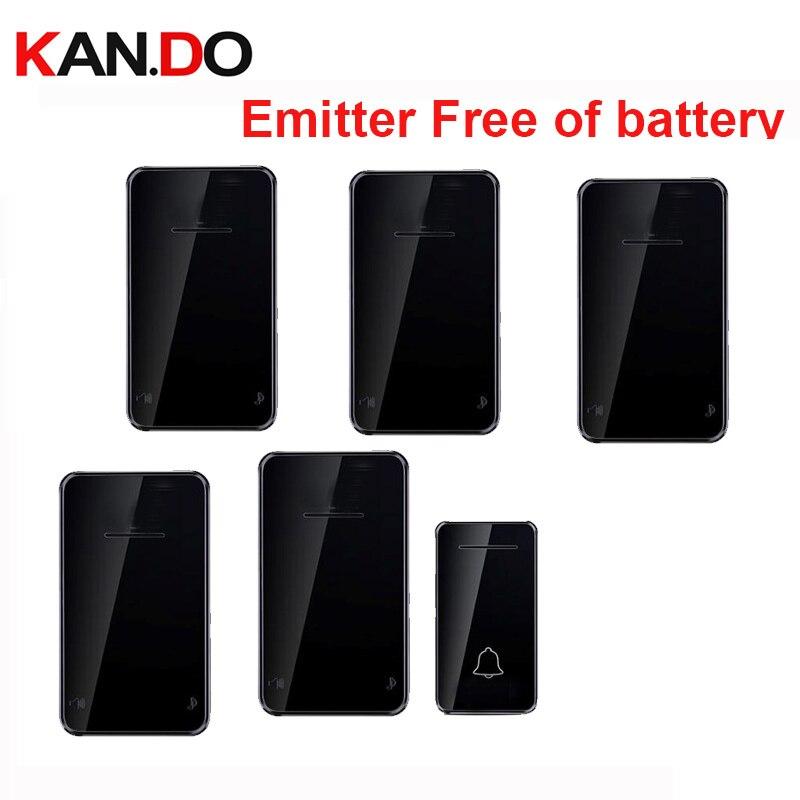 Emitter Free Of Battery Bell 5RX Wireless Door Bell By 110-220V Wireless Doorbell Ip44 200M Door Chime Door Ring For Villa
