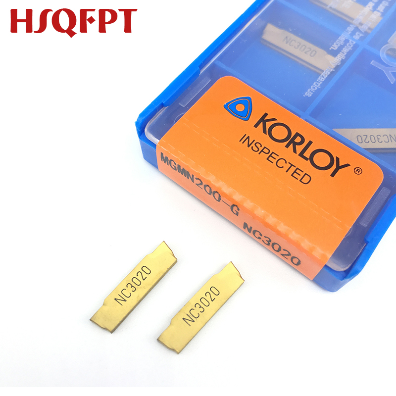 10pcs MGMN200-G NC3020 2mm Grooving cut off carbide CNC insert carbide