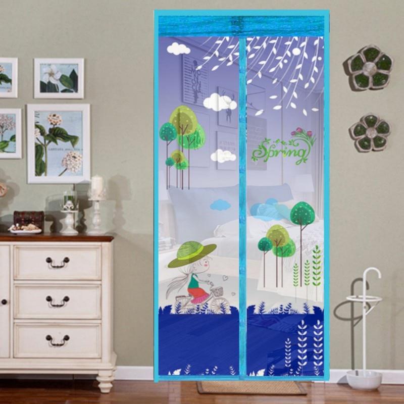 Magnetic Mosquito Door Curtain Soft Yarn Curtain Anti Insect fly Door Screen Soft Yarn Magic Mesh Door Curtain