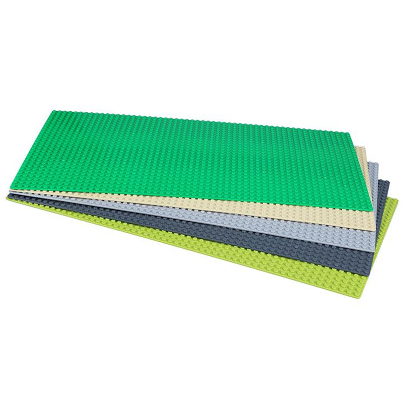 16*32 Dots Small Blocks Base Plate 5pcs/lot Building Blocks DIY Baseplate new big size 40 40cm blocks diy baseplate 50 50 dots diy small bricks building blocks base plate green grey blue