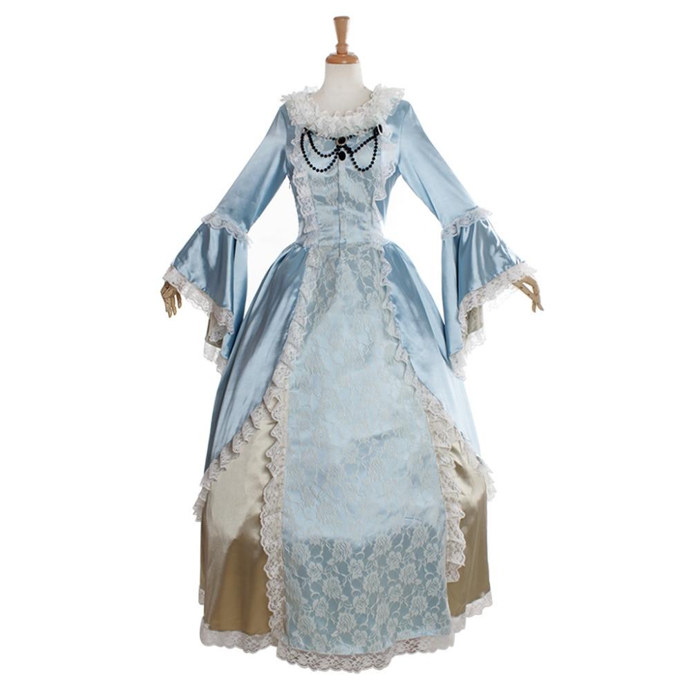Elegant Marie Antoinette Civil War Medieval Renaissance Dress Victorian Wedding Dress Ball Gown Halloween Cosplay Costume