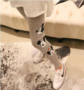 Maternity clothing 2017 Spring maternity Cartoon Leggings super elastic belly care  trousers for pregnant women SZ5807