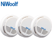 New NiWoolf 433MHz Wireless Smoke Detector 3pcs/lot, Fire Alarm Sensor for Indoor Home Safety Garden Security,