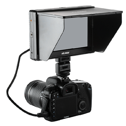 Viltrox 7 DC-70 II Clip-on Color TFT HD LCD Monitor Display HDMI AV Input 1024*600 for DSLR Camera Camcorder