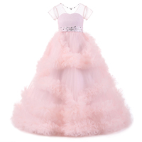 Cloud Flower Girls Dresses 2018 For Wedding Kids Pageant Dress First Holy Communion Dresses For Little
